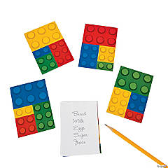 Paper Color Brick Party Notepads
