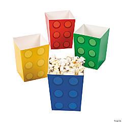 Paper Color Brick Party Popcorn Boxes