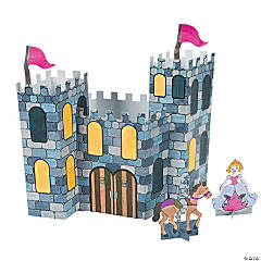 Paper Color Your Own 3D Castles