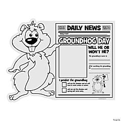 "Paper Color Your Own ""All About Groundhog Day"" Posters"