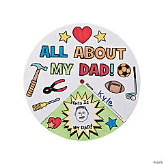 "Paper Color Your Own ""All About My Dad!"" Wheels"