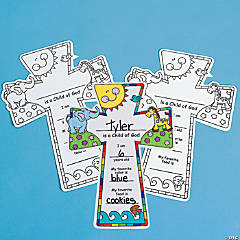 "Paper Color Your Own ""Child of God"" Crosses"