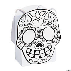 Paper Color Your Own Day of the Dead Treat Bags