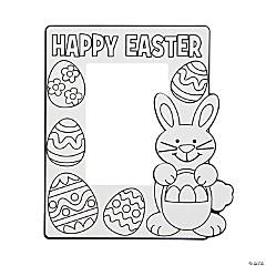Paper Color Your Own Easter Picture Frames