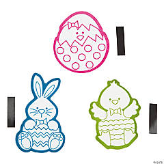 Paper Color Your Own Fuzzy Egg Character Magnet