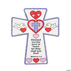 Paper Color Your Own Inspirational Valentine Crosses