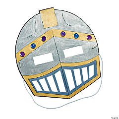 Paper Color Your Own Knight's Masks