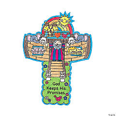 Paper Color Your Own Noah's Ark Crosses