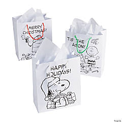Paper Color Your Own Peanuts® Christmas Gift Bags