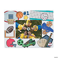 Paper Color Your Own Sports Picture Frames