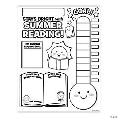 """Paper Color Your Own """"Summer Reading Countdown"""" Posters"""