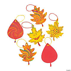 Paper Colorful Magic Color Scratch Fall Leaves