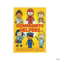 Paper Community Helper Coloring Books
