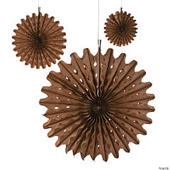 Paper Copper Tissue Hanging Fans