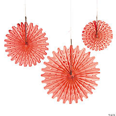 Paper Coral Tissue Hanging Fan Assortment