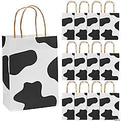 Paper Cow Print Kraft Bags