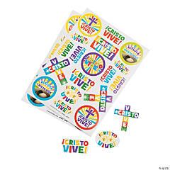 """Paper """"Cristo Vive"""" Stickers"""