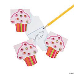 Paper Cupcake Notepads with Gems