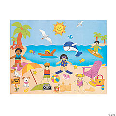 Paper Day At the Beach Sticker Scenes