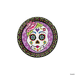 Paper Day of the Dead Dessert Plates