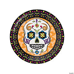 Paper Day of the Dead Dinner Plates