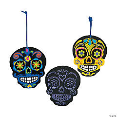 Paper Day of the Dead Scratch 'N Reveal Ornaments