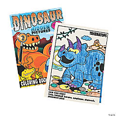 Paper Dinosaur Image Hunt Coloring Books