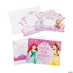 Paper Disney Princess Very Important Princess Dream Party Invitations & Thank You Postcards