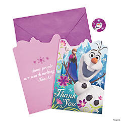 Paper Disney's Frozen Thank You Cards