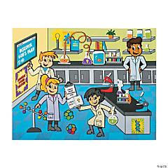 Paper Divine Discoveries Science Lab Sticker Scenes