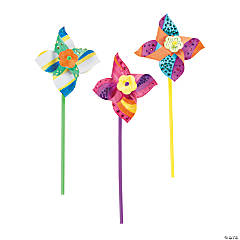 Paper DIY Pinwheels - 48 Pc.