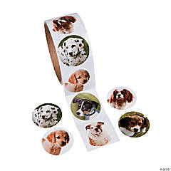 Paper Dog Roll of Stickers