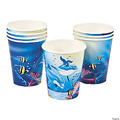 Paper Dolphin Cups