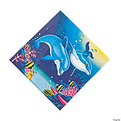 Paper Dolphin Luncheon Napkins