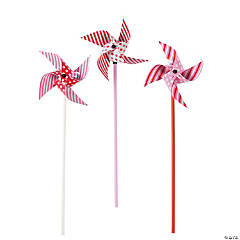 Paper Dots and Stripes Valentine Pinwheels