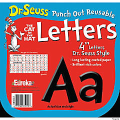 Paper Dr. Seuss™ Black Bulletin Board Letters & Numbers