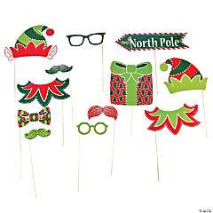 Paper Elf Photo Stick Props