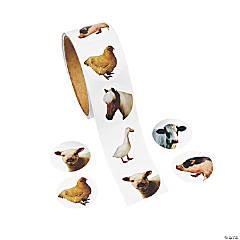 Paper Farm Animal Sticker Rolls