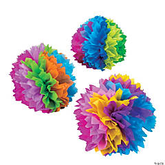 Paper Fiesta Flower Tissue Centerpieces