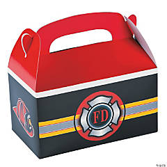Paper Firefighter Party Treat Boxes