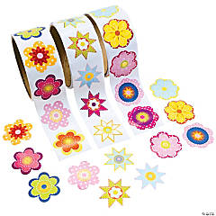 Paper Flower Rolls of Stickers Assortment