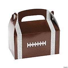 Paper Football Treat Boxes with Handle