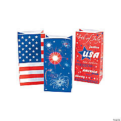 Paper Fourth of July Treat Bags