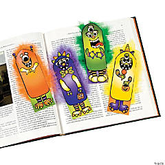 Paper Fuzzy Hair Monster Bookmarks