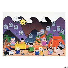 Paper Giant Ten Commandments Sticker Scenes