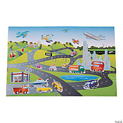 Paper Giant Transportation Sticker Scenes