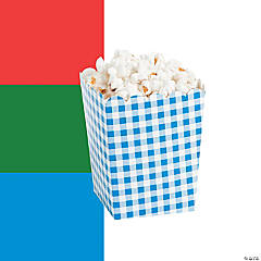 Paper Gingham Popcorn Boxes