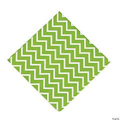 Paper Green Chevron Luncheon Napkins