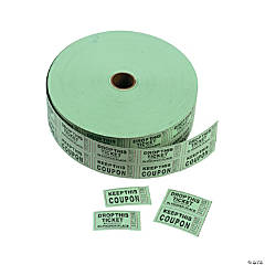 Paper Green Coupon Double Roll Tickets