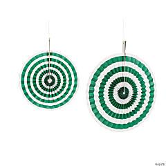 Paper Green Stripe Hanging Fans